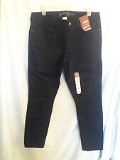 Arizona Women's Pants Skinny Leg Slim Fit Size 13 Black