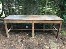 More details for school science desks tables beech legs mahogany tops 8ft x30