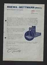 METTMANN, Brief 1938, RHEWA Rheinische Waagen-Fabrik August Freudewald