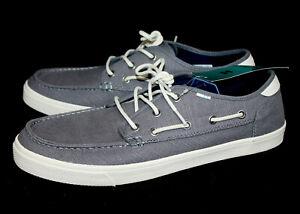 TOMS Dorado Canvas Moccasin Boat Shoe 10013223 Men's 13 Gray Shade Heritage