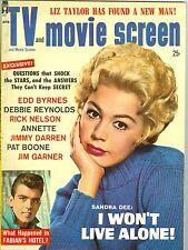 Sandra Dee Fabian cover TV and Movie Screen magazine April 1960