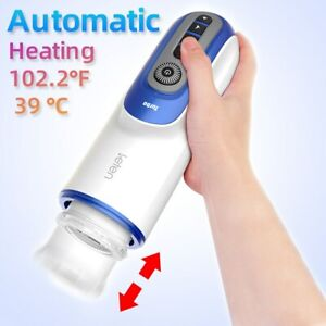 Male Masturbator Pussy Automatic Piston Hands Free Auto Strokers USB Sex Toy NEW