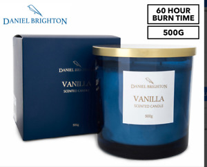 Daniel Brighton Scented Soy Candle 500g - Vanilla 60 Hour Burn Time