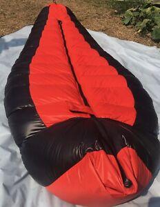 Daunenschlafsack, Glanznylon, 2,5 Kg feinste Daunen