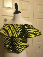 Multi Colored African Wax Print/Ankara Off-Shoulder Dress Top. 100% Cotton