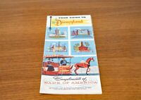 Tour Guide To Disneyland - Bank of America - 1956 Brochure - Excellent