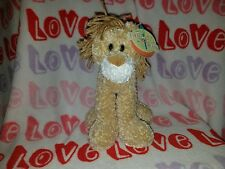"First & Main Lankydoodle Plush Lion Yarn Mane 10"" Stuffed Animal Lovey"