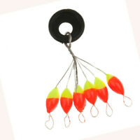 """6 FLAME/YELO STRIKE INDICATORS 3/8"""" FOR TINY FLIES & LIGHT LINES fly fishing"""