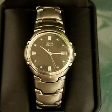 Vintage men's citizen watch 093443 solid stainless case and bracelet no reserve