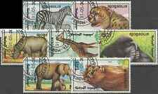 Timbres Animaux Mongolie 1850/6 o lot 19388