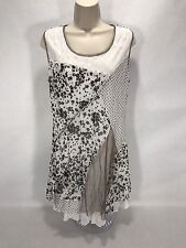 Fleur De Lis Dress Size M Black/white/gray Langenlook Tunic Multiple Layered