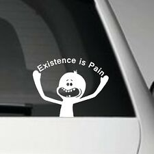 EXISTENCE IS PAIN RICK AND MORTY MR MEESEEKS - VINYL ADHESIVE CAR DECAL STICKER
