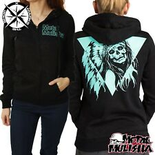 METAL MULISHA 'SINISTER BURNOUT FLEECE' WOMENS HOODIE SMALL UK 8 BLACK RRP £54