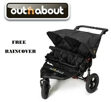 Out n About Double Nipper 360 V4 - Raven Black FREE Raincover