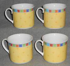 Set (4) Villeroy & Boch TWIST ALEA - LIMONE PATTERN Breakfast Cups (NO SAUCERS)
