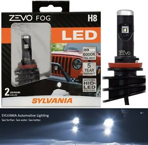 Sylvania ZEVO LED Kit 6000K White H8 Two Bulbs Fog Light Upgrade Replace Lamp OE