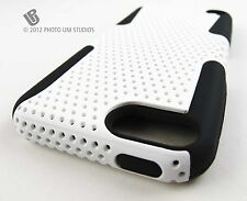 WHITE PERFORATED RUBBERIZED HARD CASE COVER APPLE IPOD TOUCH 5 5TH ACCESSORY