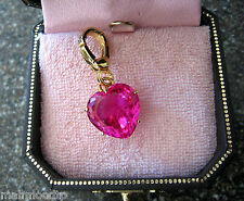 New JUICY COUTURE charm retired hot pink heart for bracelet,necklace, or purse
