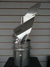 """6"""" 150mm Dragon Revolving Chimney Cowl Cure Down Draught Stove Fire Stainless"""
