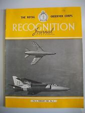 The Royal Observer Corps Recognition Journal. Vol. 2. No. 2. February, 1960.