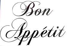 Bon Appetit Wall Art Kitchen Dining Room Sticker Decal
