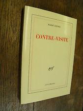 Contre-visite / Marie Didier  / éditions Gallimard 1988