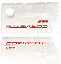 2005-2008 Chevrolet Corvette LS2 Fuel Rail Covers - White - GM 17800109
