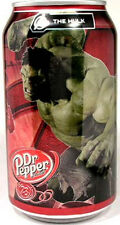 """MT UNOPEN 12oz American Dr. Pepper """"Avengers The Hulk"""" 2009 USA Limited Edition"""