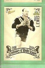 2008 RUGBY LEAGUE CENTENARY CARD #88  WALLY LEWIS, BRISBANE, GOLD COAST