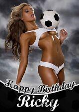 PERSONALISED SEXY FOOTBALL BIRTHDAY CARD