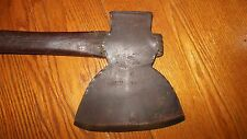 Vintage Forged HEWING BROAD AXE Stamped J. DAVIS / LOG HOME / BARN BUILDING TOOL