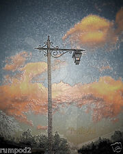 Photo Art/Poster/Print/Street Light/Twilight/16x20 inch/Evening Sky/Street Lamp