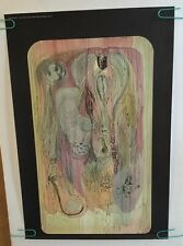 original vintage poster J.C. Pusey 1969 psychedelic faces images abstract pin-up