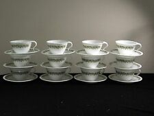 24  piece Corelle Spring Blossom C  hook cups & saucers 12 each crazy daisy