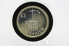 2000 Millennium Ireland Silver Proof Piedfort 1 One Punt Irish Harp