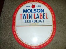 """Molson Canadian Beer Twin Label Tin Sign 26""""x 22""""  Oval GREAT MANCAVE"""