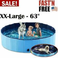 Foldable Pet Bath Swimming Pool Collapsible Summer Kids & Dog Bathing