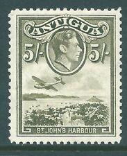 ANTIGUA 1938 George VI mint 5/- SG107