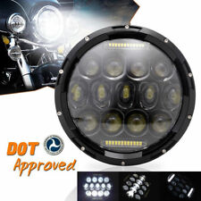 Black Projector DRL 7Inch Motorcycle Adaptive Led Headlight For Harley Davidson