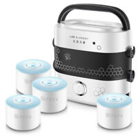 Portable 1.5L 2 Layer Electric Lunch Box Container Rice Cooker Food Warmer