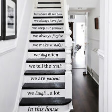 Stair Decals Disney Quotes Stairway Steps Vinyl Stickers Family Home Decor ZX229