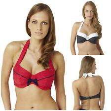 Panache Britt Underwired Halterneck Bikini Top SW0822 Black or Red