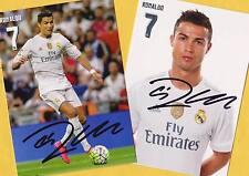 Cristiano RONALDO Real Madrid (2) - 2 TOP AK Bilder- Print Copies + WM AK signed