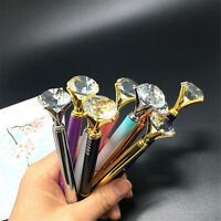 Metal Diamond Head Crystal Ball Pen Creative Concert Pen Stationery Gift