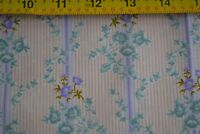 "By 1/2 Yd, Lavender, Teal & Peach Pastel Quilting, RJR/""Antique Hatbox"", B1139"