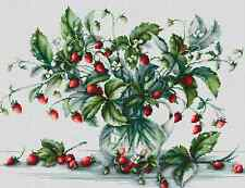 Counted Cross Stitch kit Luca-S Bouquet with Strawberries #B2267
