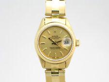 Rolex Datejust 18k oro, donna automatico cinturino.