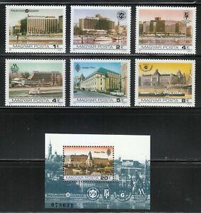 Hungary 1984 MNH Mi 3701A-3706A+Block 174A Sc 2863-2869 Budapest Hotels **Hilton