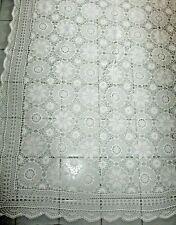 Tischdecke, Decke 170 x 130 cm gehäkelt, aus Häkelspitze Baumwollgarn