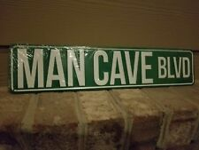 MAN CAVE BLVD Metal Sign- Garage Office Den Guys Room Home Wall Decor